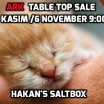 Table Top Sale 6 November