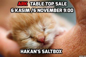 Table Top Sale 6 November